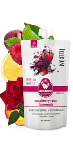 Raspberry Rose Petal lemonade floral beauty sleep soothing low calories