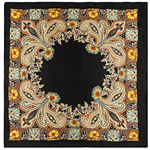Black Floral pattern head scarf