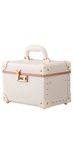 rose white cosmetic case