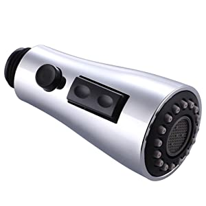 spray head with durable plastic button