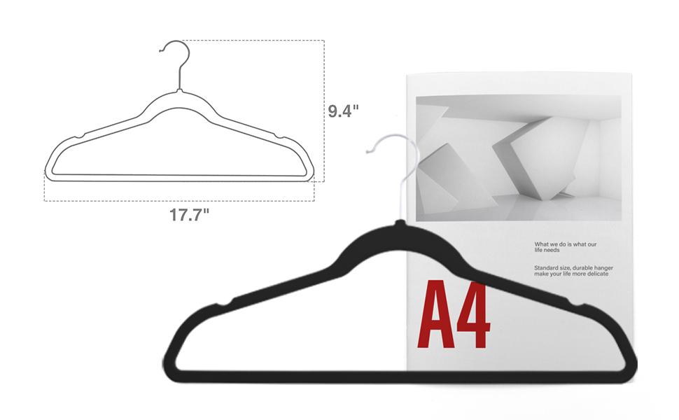 hangers non slip velvet