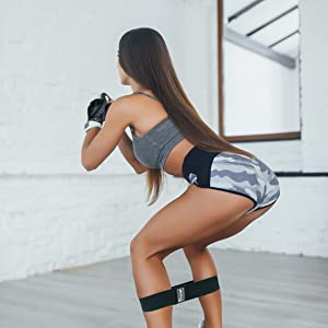 Resistance bands squat exercise band booty legs calves toned best