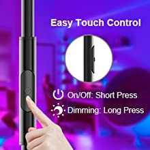 Easy To Touch For Smart Wifi Floor Light