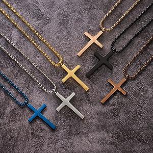 Men Women Cross Necklace