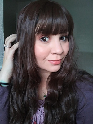 brown wig with bangs