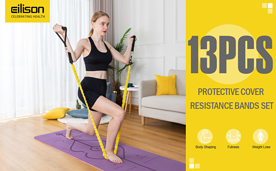 Eilison Nylon Cover Resistance Rope Bands