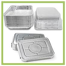 8 x 8 Square Baking Pans with Plastic Dome Lids Half Pan Lids Lasagna Pans Lids casserole mozzarella
