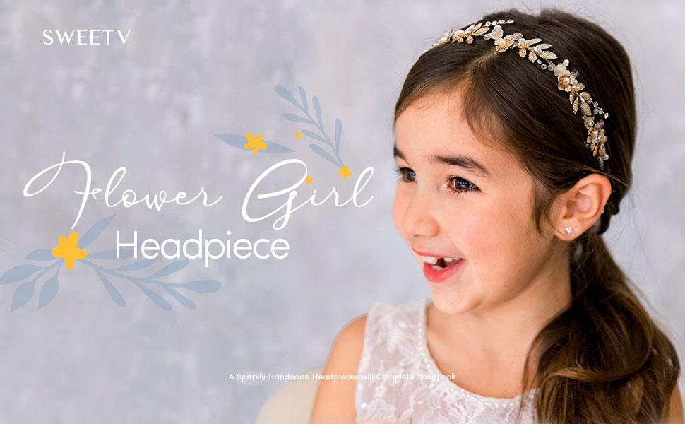 Flower Girl Headpiece for Wedding