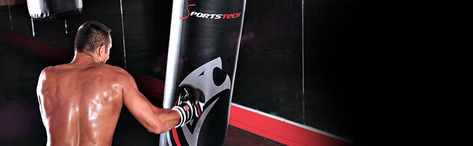 Saco de Boxeo Profesional.Fijación 360° de Sportstech; Incluye póster de Entrenamiento;Nuestro BXP está Recomendado por la Asociación de Boxeo de ...