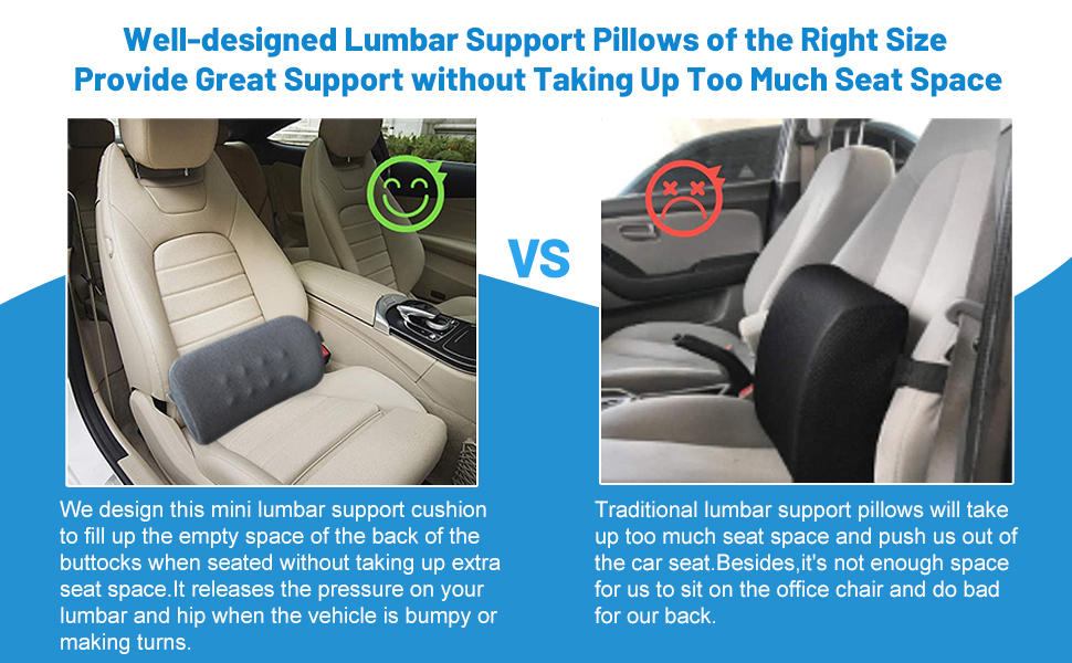 small lumbar support pillow for computer chair car chair