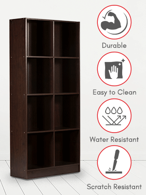 DeckUp Meritus Book Shelf/Display and Storage Unit (Dark Wenge, Matte Finish SPN-FOR1