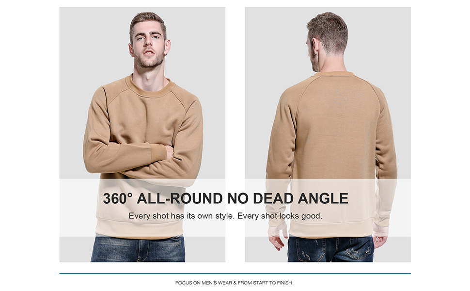 Mens solid color pullover