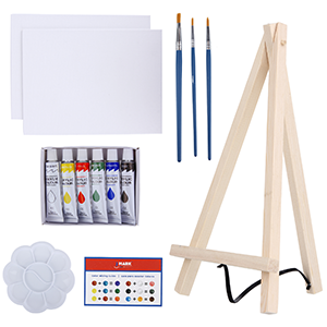 canva art kit acrylic paint set canva canva art set easel paint set paint canva art set