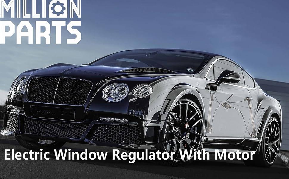 Power Window Regulators Set fits Alero Grand Am Sedan Front Pair without Motors