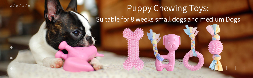 pink chewing toys for puppies