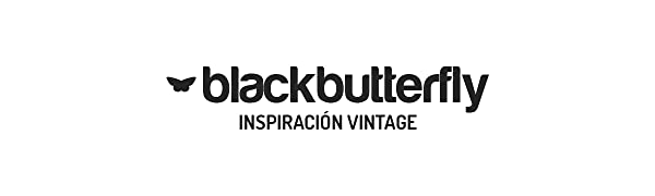 BlackButterfly Cintur/ón El/ástico de Cors/é de Cintura de 8 CM con Hebilla Antigua