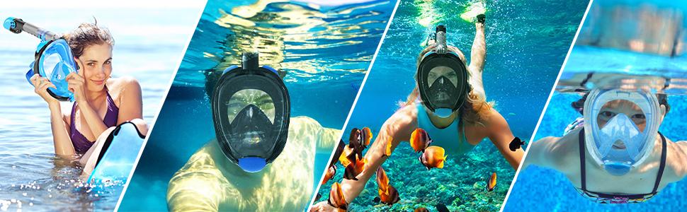 anti fog snorkel mask