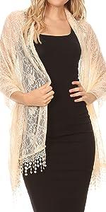 shawl pashmina light poncho soft simple feminine sheer large light color casual wedding head wrap