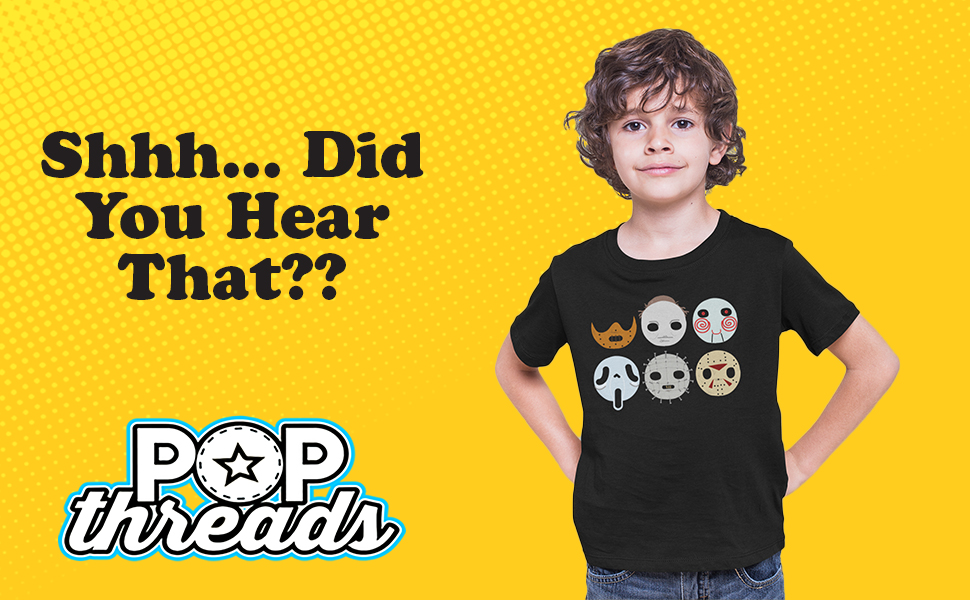 Pop Threads Horror Movie Scary Funny Halloween Jason Retro 80s Youth Kids Girl Boy T-Shirt