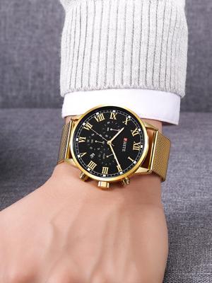 cool mens chrono watch beautiful popular rich flashy handsome real wear model show sturdy durable