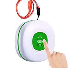 battery operated caregiver pager call button for elderly ring alarm for seniors call buttons elderly