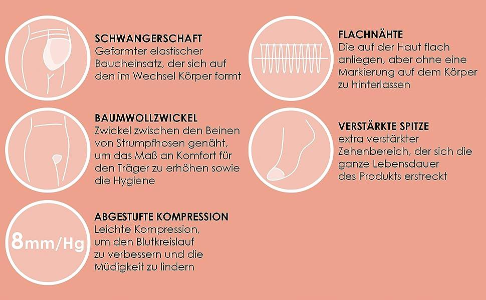 feine strumpfhose umstand, umstandsstrumpfhose 20 den, komfort strumpfhose schwangerschaft