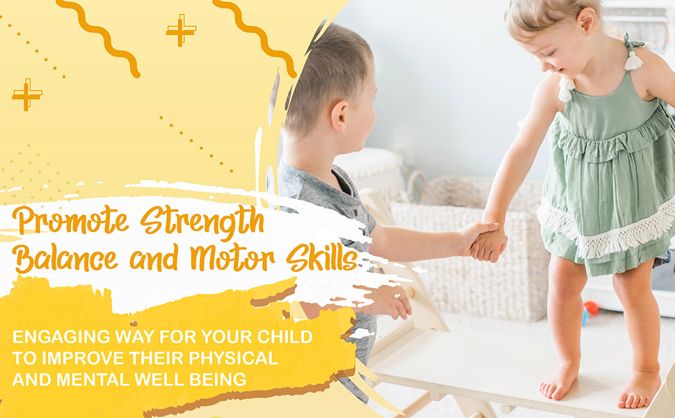 Promotes strength, Balance and Motor Skills. Tottlr improves kids well being