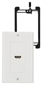hdmi wall plate white with mounting bracket