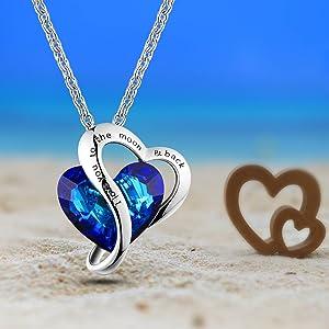 Blue heart pendant