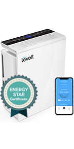 Levoit Purificador de Aire WiFi Inteligente con Filtro HEPA, Hasta ...