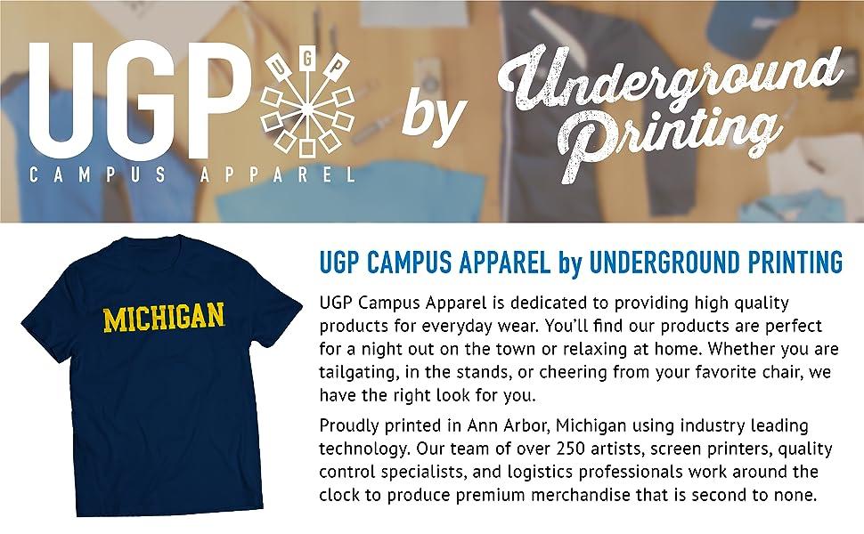 UGP Campus Apparel by Underground Printing NCAA Basic Block T Shirt Sweatshirt