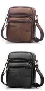 SPAHER Leather Men Shoulder Bag