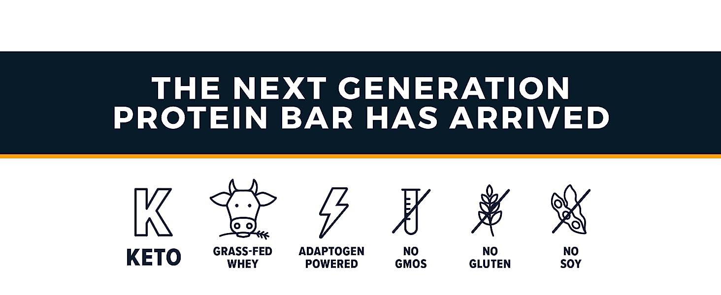 Atlas Bar - The Next Generation Protein Bar Has Arrived. Keto, Grass-Fed Whey, No GMOs, No Gluten
