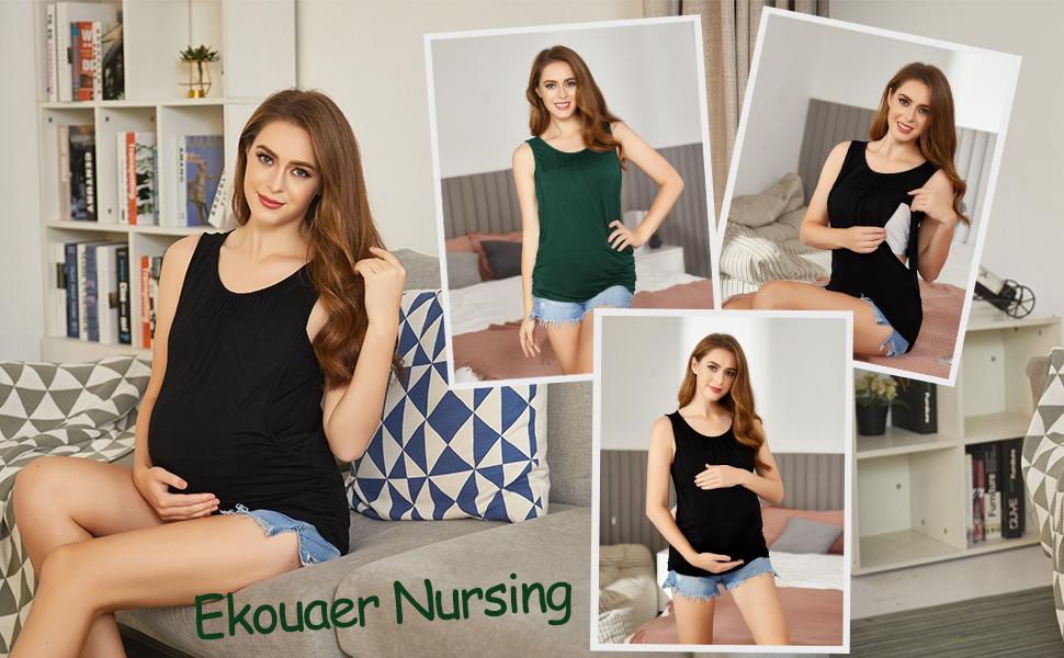 Nursing tank top for women