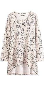 lavielente dog puppy hi-lo top tunic top