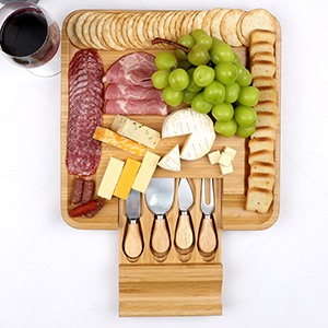 A photo of our charcuterie accessories and cheese knife set