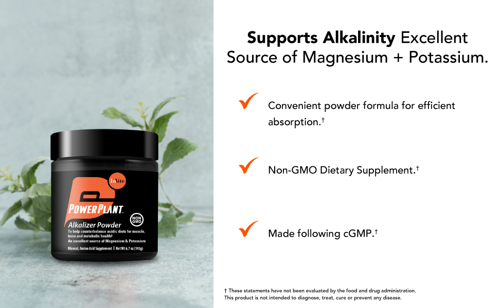 Supports Alkalinity excellent source of magnesium & potassium