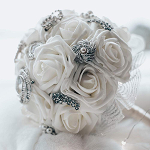 How To Make A Wedding Bouquet With Artificial Flowers.Amazon Com Umiss Wedding Bouquet 50pcs Artificial Flowers White