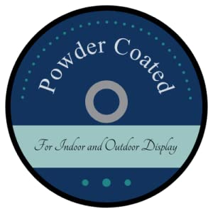 Powder Coated For indoor and outdoor display durable outdoor decor indoor