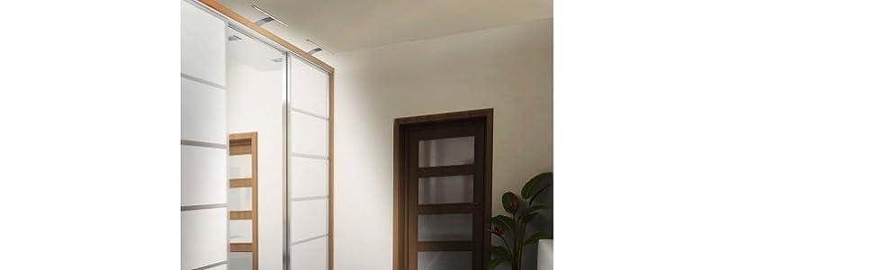 Ensemble de 2 lampes de garderobe LED éclairage de surface avec interrupteur prise blanc chaud 3000k