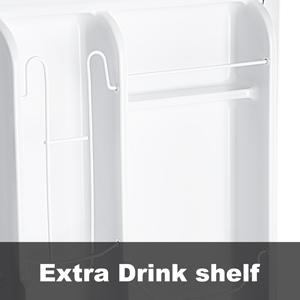 2 Door Mini Fridge with freezer