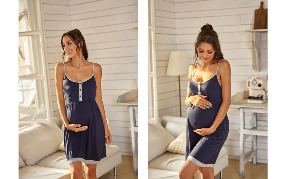 Women's Nursing Nightgown Maternity Dress