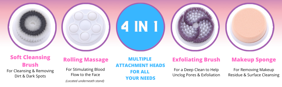 4 in 1 face cleansing brush for girls Christmas gifts