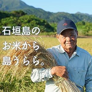 Shimaurara is made from domestically grown rice.