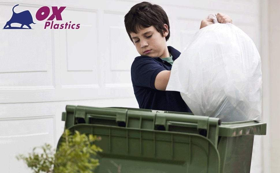 Gallon Trash Can Rolls Tough Recycle Density outdoor Strength Bathroom Bags Wastebaskets Drum
