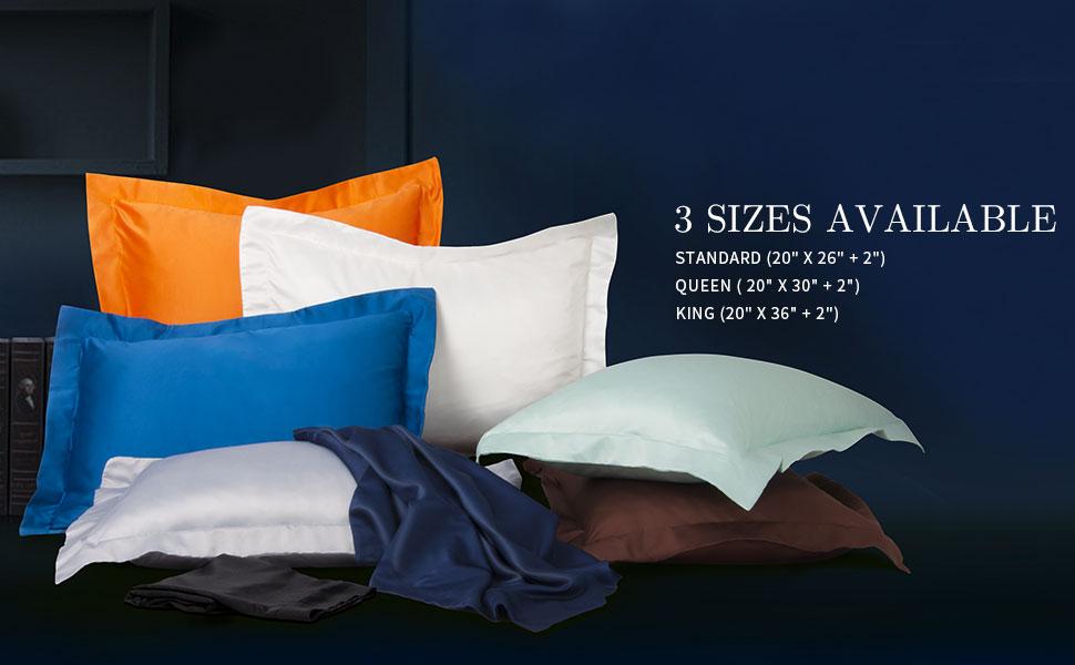 NTBAY Microfiber Satin Pillow Shams