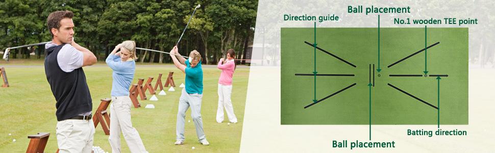 acu strike impact golf training mat