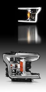 2018 2019 ford f150 taillights led tube assesscories black smoke lens extend regular raptor