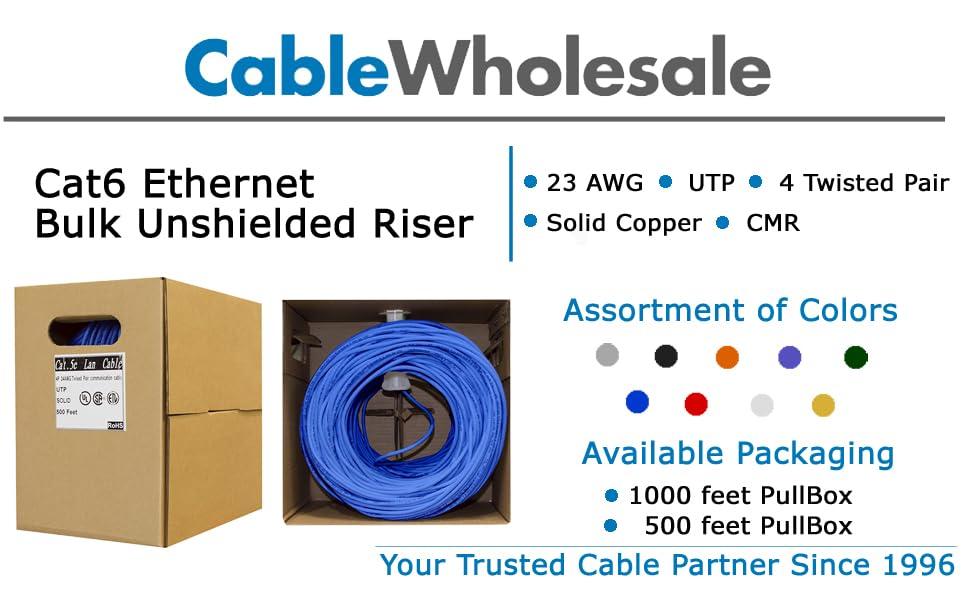 Cat6 Cable, Cat6 UTP, Cat6 Unshielded, Cat6 Cable Spool, Bulk Cat6, Cat6 Outdoor Cable, UTP