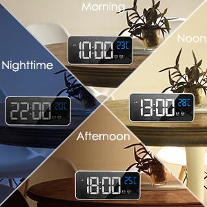 HOMVILLA digital väckarklocka